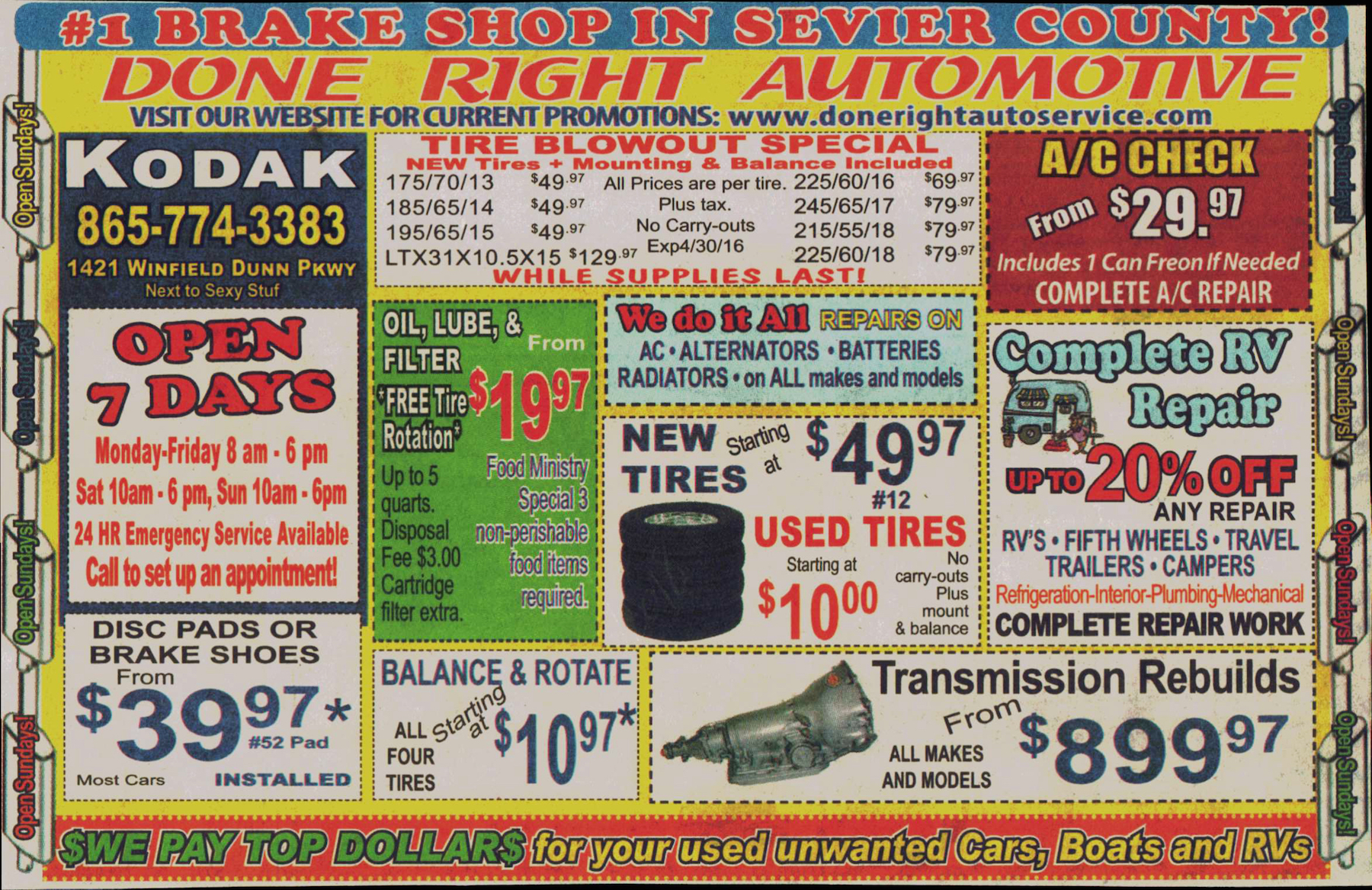 Done Right Automotive Auto Repair in Sevierville TN